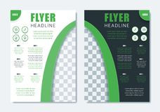Plantilla moderna del folleto del negocio Disposición limpia minimalista del aviador stock de ilustración
