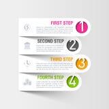 Plantilla moderna del infographics del negocio ilustración del vector