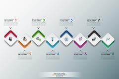 Plantilla moderna del proceso de Infographics Imagenes de archivo