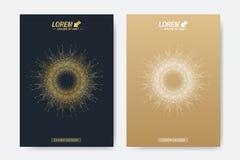 Plantilla moderna del vector para el folleto, el prospecto, el aviador, la cubierta, la revista o el informe anual Tamaño A4 Nego Imagen de archivo libre de regalías