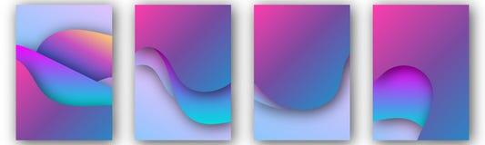 Plantilla moderna del vector para el folleto, prospecto, aviador, cubierta, catálogo de tamaño A4 El líquido abstracto 3d forma e ilustración del vector