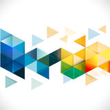 Plantilla moderna geométrica colorida abstracta para el negocio o la tecnología Fotos de archivo