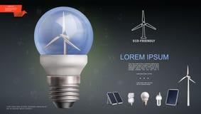 Plantilla moderna realista de la electricidad stock de ilustración
