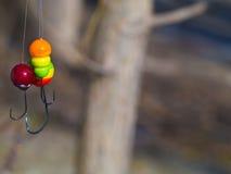 Plantilla multicolora agradable tres para pescar fotos de archivo libres de regalías