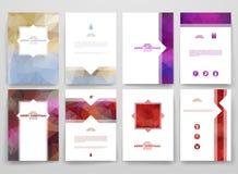 Plantilla multicolora de los folletos en estilo de moda Imagenes de archivo