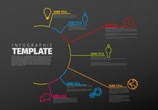 Plantilla multiusos de Infographic del vector Fotos de archivo