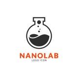 Plantilla nana del logotipo del laboratorio stock de ilustración