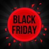 Plantilla negra de la bandera de la venta de viernes libre illustration
