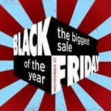 Plantilla negra de la venta 3d de viernes Fotos de archivo libres de regalías