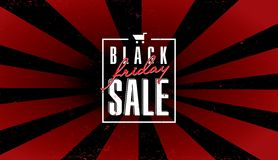 Plantilla negra de la venta de viernes Imágenes de archivo libres de regalías