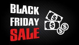 Plantilla negra de la venta de viernes Fotografía de archivo