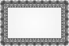 Plantilla negra del certificado Fotos de archivo libres de regalías