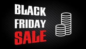 Plantilla negra del diseño de la venta de viernes Fotografía de archivo
