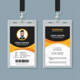 Plantilla negra y amarilla de la tarjeta de la identificación de la oficina libre illustration