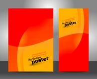 Plantilla o bandera del diseño de negocio del folleto Fotografía de archivo