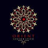 Plantilla oriental del logotipo del modelo de Asia del diseño geométrico Imágenes de archivo libres de regalías