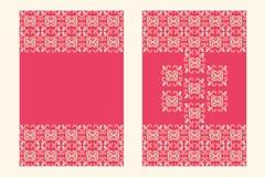 Plantilla oriental rosada de la tarjeta Fotografía de archivo libre de regalías