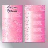 Plantilla original para la belleza y el folleto del balneario libre illustration