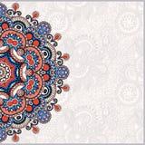Plantilla ornamental con el fondo floral del círculo Imagen de archivo libre de regalías