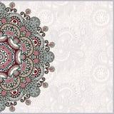 Plantilla ornamental con el fondo floral del círculo Fotografía de archivo libre de regalías