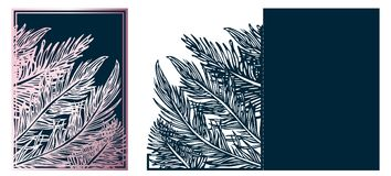 Plantilla ornamental cortada laser de moda del vector Coche de lujo del saludo ilustración del vector