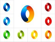 Plantilla oval del diseño del logotipo de la muestra Fotos de archivo