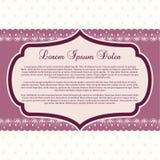 Plantilla púrpura del boutique Fotos de archivo libres de regalías