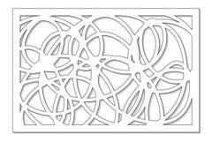 Plantilla para cortar Línea abstracta, modelo geométrico Corte del laser Fije el 2:3 del ratio Ilustración del vector libre illustration