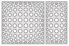 Plantilla para cortar Modelo geométrico del círculo Corte del laser Fije r stock de ilustración
