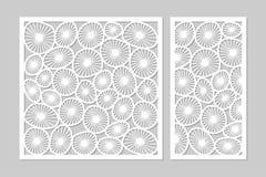 Plantilla para cortar Modelo redondo del arte Corte del laser Fije el ratio 1: ilustración del vector