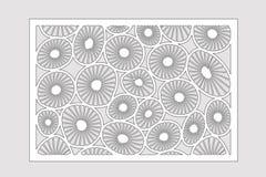 Plantilla para cortar Modelo redondo del arte Corte del laser Fije el 2:3 del ratio Ilustración del vector libre illustration