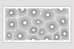 Plantilla para cortar Modelo redondo del arte Corte del laser Fije el 1:2 del ratio Ilustración del vector ilustración del vector