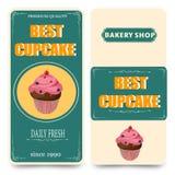 Plantilla para el café, tienda de la panadería Imagen de archivo libre de regalías