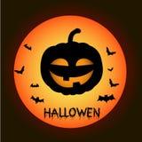 Plantilla para el cartel del feliz Halloween Imagen de archivo