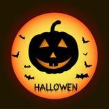 Plantilla para el cartel del feliz Halloween Fotografía de archivo