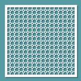 Plantilla para el corte del laser Marco geométrico Ornamento redondo Elemento decorativo interior stock de ilustración