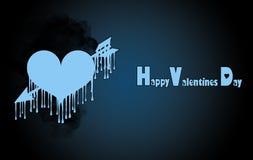 Plantilla para el día del ` s de la tarjeta del día de San Valentín libre illustration