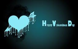 Plantilla para el día del ` s de la tarjeta del día de San Valentín stock de ilustración