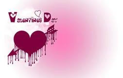 Plantilla para el día del ` s de la tarjeta del día de San Valentín ilustración del vector