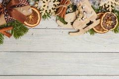 Plantilla para el espacio del Año Nuevo para el texto Maqueta para hacer publicidad, enhorabuena Fotografía de archivo libre de regalías