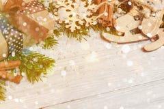 Plantilla para el espacio del Año Nuevo para el texto Maqueta para hacer publicidad, enhorabuena Fotos de archivo libres de regalías