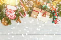 Plantilla para el espacio del Año Nuevo para el texto Maqueta para hacer publicidad, enhorabuena Foto de archivo libre de regalías
