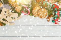 Plantilla para el espacio del Año Nuevo para el texto Maqueta para hacer publicidad, enhorabuena Fotografía de archivo