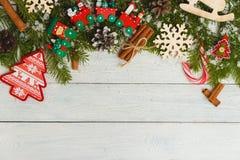 Plantilla para el espacio del Año Nuevo para el texto Maqueta para hacer publicidad, enhorabuena Imágenes de archivo libres de regalías