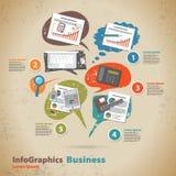 Plantilla para el hombre de negocios infographic en estilo del vintage Foto de archivo libre de regalías