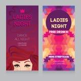 Plantilla para el partido de la noche de las señoras Fotografía de archivo
