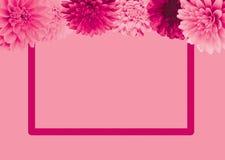 Plantilla para el texto con las flores libre illustration