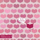 Plantilla para el valentine& x27; partido del día de s con un corazón del diablo stock de ilustración