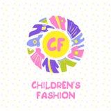 Plantilla para hacer publicidad de la tienda y del mercado de los niños Imágenes de archivo libres de regalías