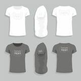Plantilla para hombre del diseño de la camiseta Imágenes de archivo libres de regalías